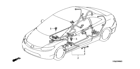 2008 civic SI(SUM TIRE) 2 DOOR 6MT WIRE HARNESS (3) diagram