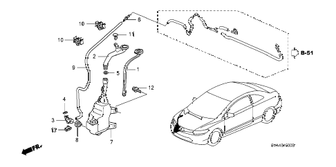 2008 civic SI(NAV) 2 DOOR 6MT WINDSHIELD WASHER (1) diagram