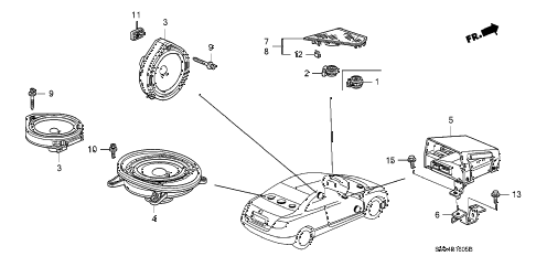 2009 civic EX 2 DOOR 5AT SPEAKER diagram