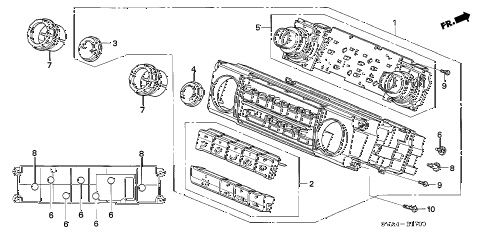 2009 civic EX-L(NAV) 2 DOOR 5MT HEATER CONTROL diagram