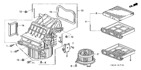 2006 civic DX 2 DOOR 5AT HEATER BLOWER diagram