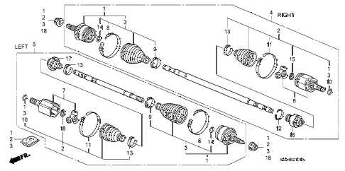 2009 civic EX(NAV) 2 DOOR 5AT DRIVESHAFT (1.8L) (AT) diagram