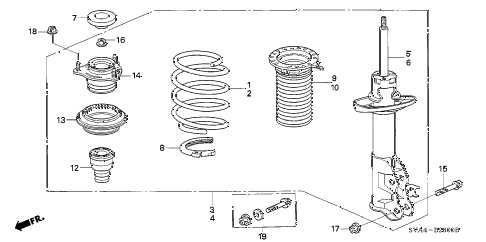 2007 civic EX 2 DOOR 5MT FRONT SHOCK ABSORBER diagram