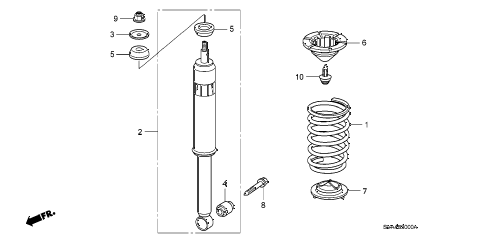2009 civic EX 2 DOOR 5AT REAR SHOCK ABSORBER diagram