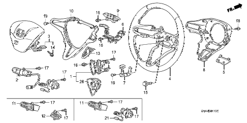 2008 civic EX 2 DOOR 5MT STEERING WHEEL (SRS) diagram