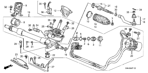 2006 civic SI 2 DOOR 6MT P.S. GEAR BOX (EPS) diagram
