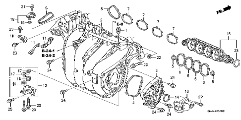 2009 civic DX 2 DOOR 5MT INTAKE MANIFOLD (1.8L) diagram