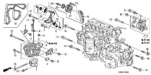 2009 civic EX-L(NAV) 2 DOOR 5MT ALTERNATOR BRACKET (1.8L) diagram