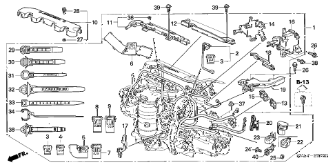 2009 civic EX-L 2 DOOR 5AT ENGINE WIRE HARNESS (1.8L) diagram