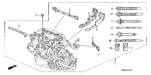 2009 civic SI(NAV) 2 DOOR 6MT ENGINE WIRE HARNESS (2.0L) diagram