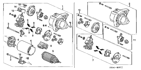 2009 civic EX(NAV) 2 DOOR 5AT STARTER MOTOR (MITSUBA) (1.8L) diagram