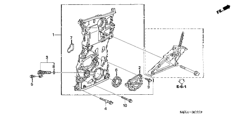 2006 civic SI(SUM TIRE,NAV) 2 DOOR 6MT CHAIN CASE (2.0L) diagram