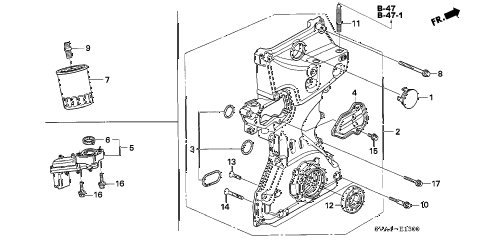 2009 civic EX 2 DOOR 5MT OIL PUMP (1.8L) diagram