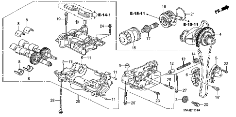 2009 civic SI 2 DOOR 6MT OIL PUMP (2.0L) diagram