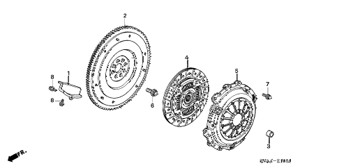 2009 civic SI(NAV) 2 DOOR 6MT CLUTCH (2.0L) diagram