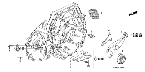 2008 civic EX 2 DOOR 5MT CLUTCH RELEASE (1.8L) diagram