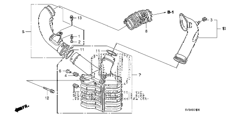 2010 civic EX-L 2 DOOR 5MT RESONATOR CHAMBER (1.8L) diagram