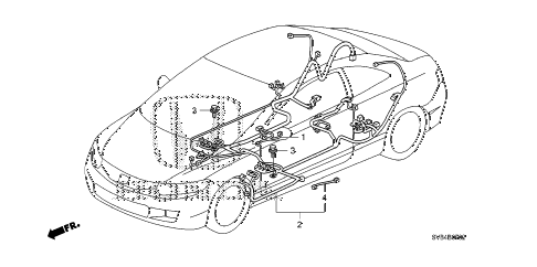 2011 civic SI(NAV) 2 DOOR 6MT WIRE HARNESS (3) diagram