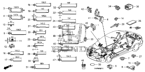 2010 civic LX 2 DOOR 5MT HARNESS BAND - BRACKET diagram