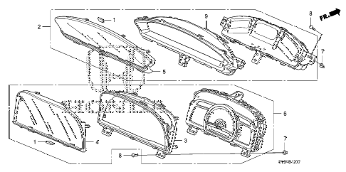 2010 civic SI(NAV) 2 DOOR 6MT METER (DENSO) diagram