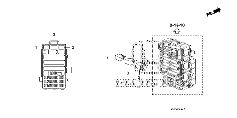 2011 civic EX 2 DOOR 5MT CONTROL UNIT (CABIN) (2) diagram