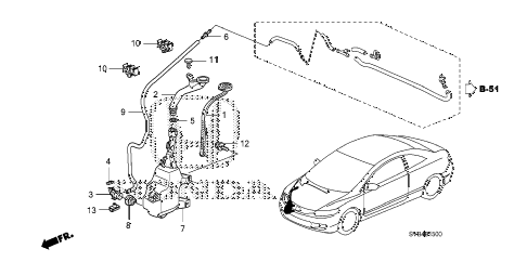2010 civic SI(NAV) 2 DOOR 6MT WINDSHIELD WASHER (KA) (KX) diagram