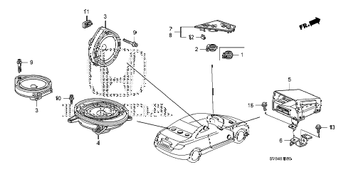 2010 civic EX-L(NAV) 2 DOOR 5MT SPEAKER diagram