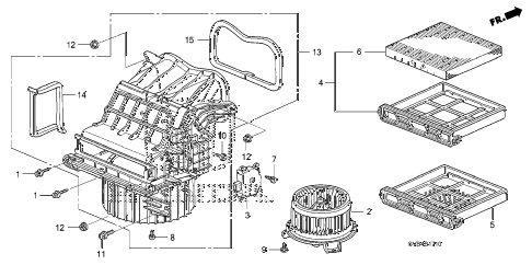 2010 civic EX-L(NAV) 2 DOOR 5MT HEATER BLOWER diagram