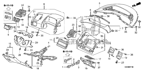 2010 civic EX-L(NAV) 2 DOOR 5MT INSTRUMENT PANEL GARNISH (DRIVER SIDE) diagram