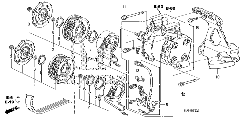 2010 civic EX-L 2 DOOR 5MT A/C COMPRESSOR (1.8L) diagram