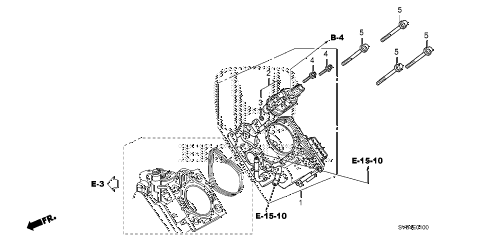 2010 civic EX-L(NAV) 2 DOOR 5MT THROTTLE BODY (1.8L) diagram