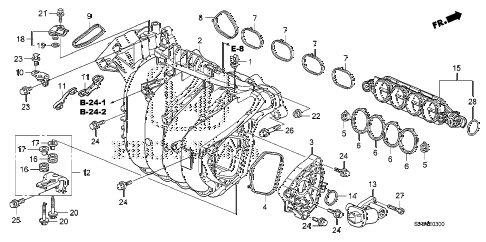 2010 civic EX-L(NAV) 2 DOOR 5MT INTAKE MANIFOLD (1.8L) diagram