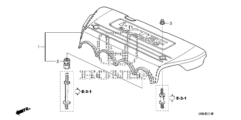 2010 civic SI(NAV) 2 DOOR 6MT ENGINE COVER (2.0L) diagram