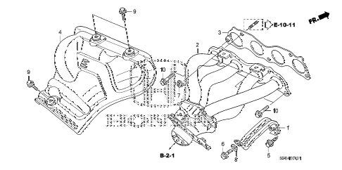 2010 civic SI(NAV) 2 DOOR 6MT EXHAUST MANIFOLD (2.0L) diagram