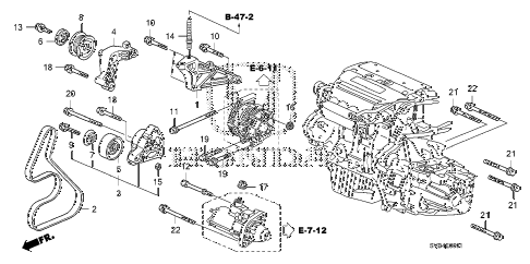 2010 civic SI(NAV) 2 DOOR 6MT ENGINE MOUNTING BRACKET (2.0L) diagram