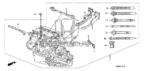 2010 civic SI(NAV) 2 DOOR 6MT ENGINE WIRE HARNESS (2.0L) diagram