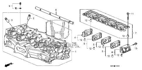 2011 civic EX 2 DOOR 5MT CYLINDER HEAD (1.8L) diagram