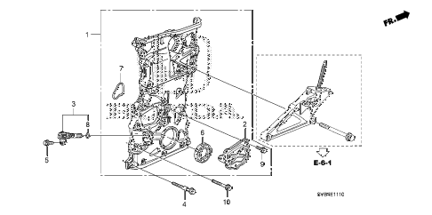 2010 civic SI(HPT,NAV) 2 DOOR 6MT CHAIN CASE (2.0L) diagram
