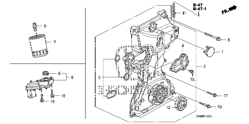 2011 civic EX 2 DOOR 5MT OIL PUMP (1.8L) diagram