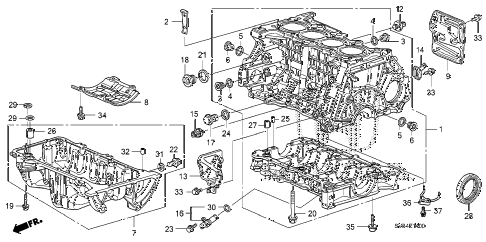 2010 civic EX-L(NAV) 2 DOOR 5MT CYLINDER BLOCK - OIL PAN (1.8L) diagram