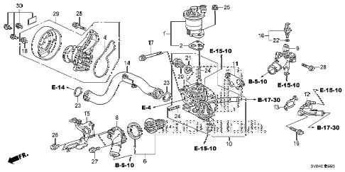 2011 civic EX 2 DOOR 5MT WATER PUMP (1.8L) diagram