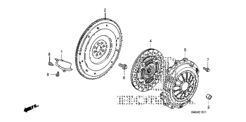 2010 civic SI(HPT,NAV) 2 DOOR 6MT CLUTCH (2.0L) diagram