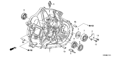 2010 civic SI(HPT,NAV) 2 DOOR 6MT MT CLUTCH CASE (2.0L) diagram