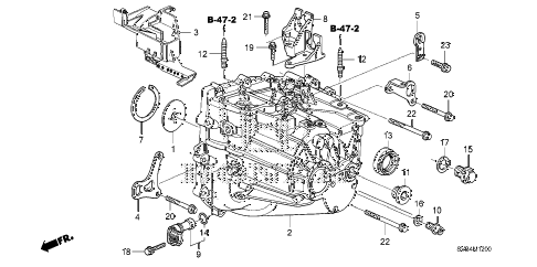 2011 civic SI(HPT) 2 DOOR 6MT MT TRANSMISSION CASE (2.0L) diagram