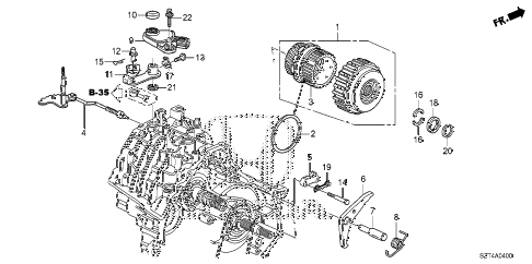 2011 cr-z EX 3 DOOR CVT CVT STARTING CLUTCH diagram
