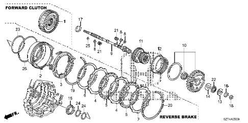 2011 cr-z EX(NV) 3 DOOR CVT CVT INPUT SHAFT - FORWARD CLUTCH diagram