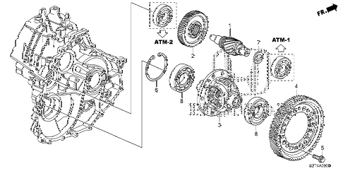 2011 cr-z EX(NV) 3 DOOR CVT CVT DIFFERENTIAL diagram