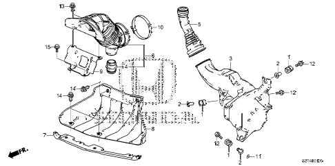 2011 cr-z EX(NV) 3 DOOR CVT RESONATOR CHAMBER diagram