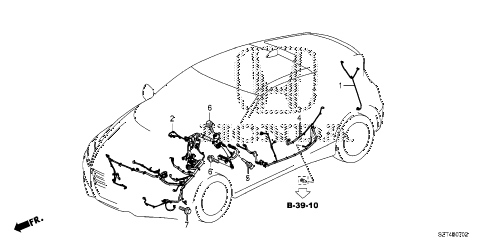 2012 cr-z EX(NV) 3 DOOR CVT WIRE HARNESS (2) diagram