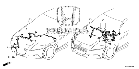 2011 cr-z EX 3 DOOR CVT WIRE HARNESS (3) diagram